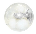 LUXURY CAT BAUBLE BAL STARS 10CM